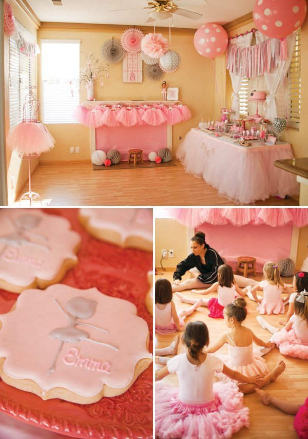 Adorable tiny dancer ballerina birthday party hostess for Ballerina birthday decoration ideas