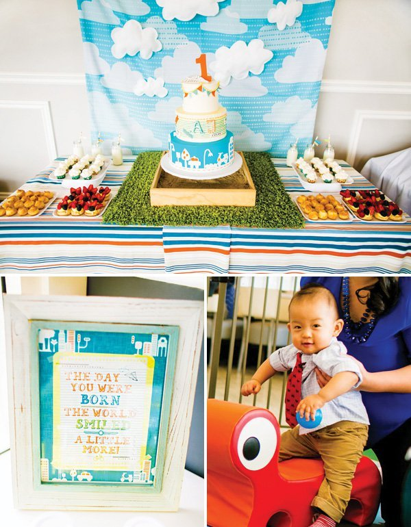 Bright Sunny Boys Will Be Boys First Birthday Party Hostess