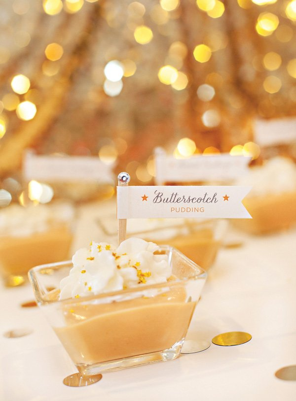 Sweet Endings: Butterscotch Pudding + White Grape Sparkler Recipes {New Year's Eve}