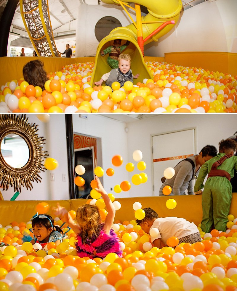 Halloween Party Activity - candy corn ball pit