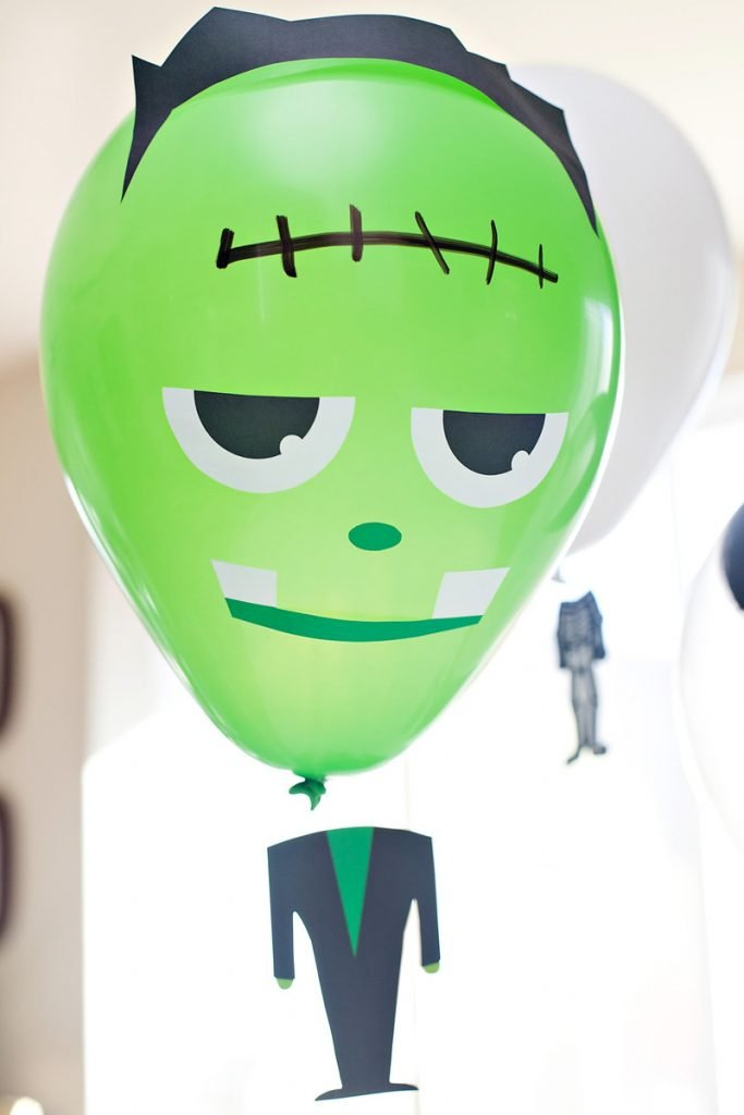 DIY Frankenstein Balloon