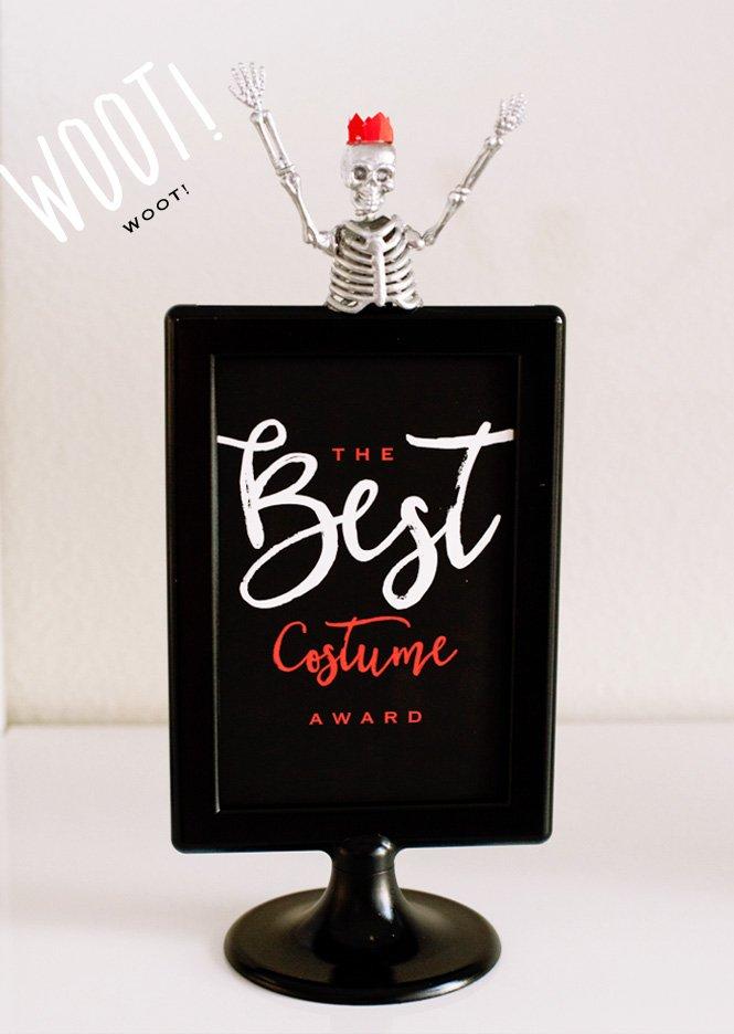 diy halloween costume contest awards free printables hostess