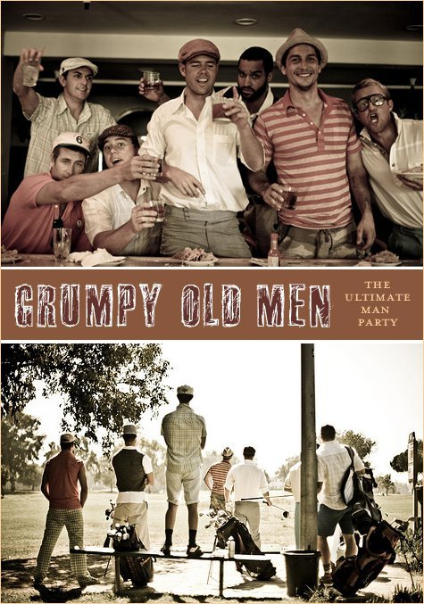 Real parties grumpy old men birthday hostess with the mostess - Birthday party theme for men ...
