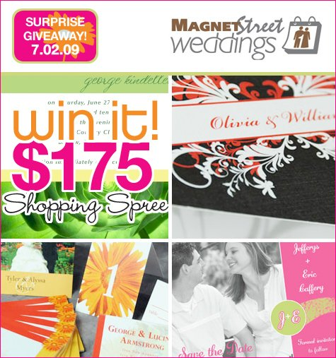Wedding Invitation Giveaway: SURPRISE GIVEAWAY: Magnet Street Weddings (Invitations