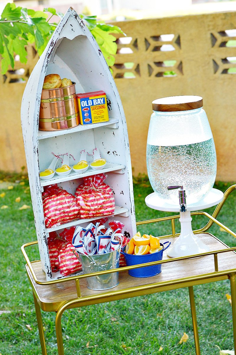 Lobster Boil Party Ideas - Boat Display
