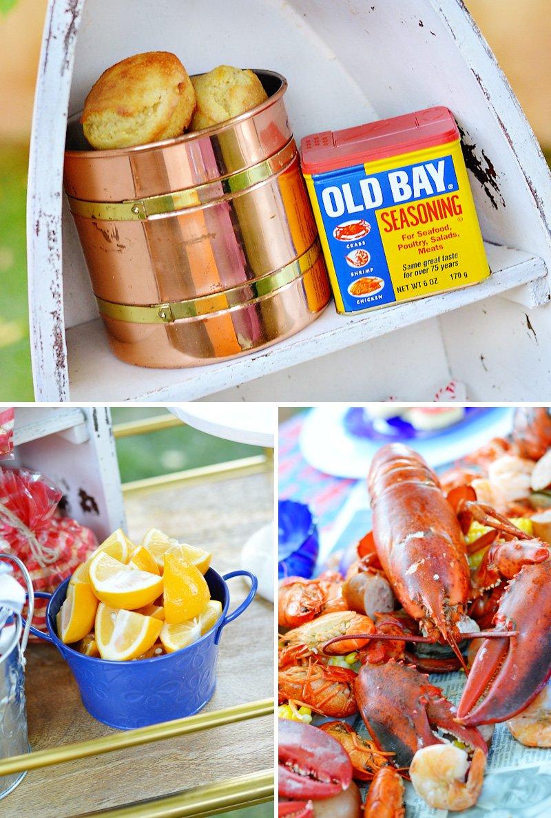 Lobster Boil Seasonings and Lemons