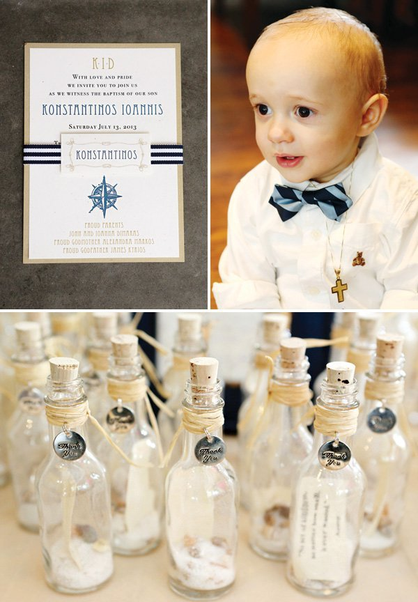 Elegant Nautical Christening & First Birthday Party