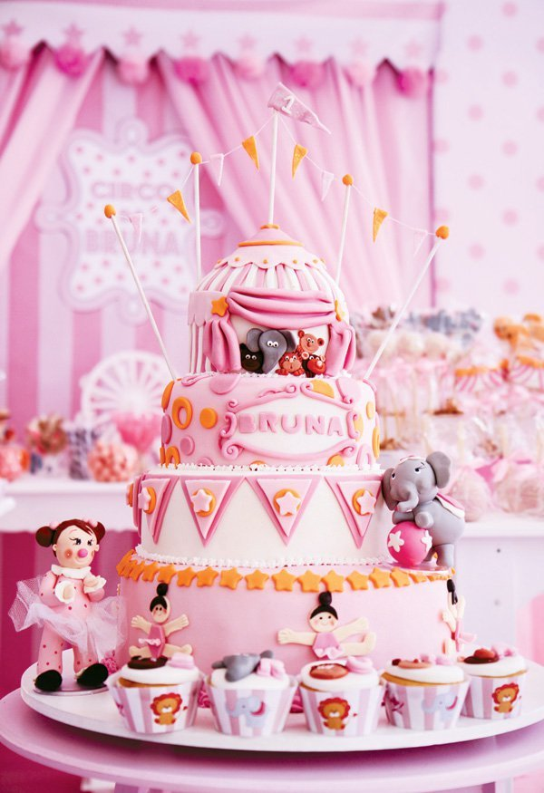 Pink Ballet Circus First Birthday Party Hostess With
