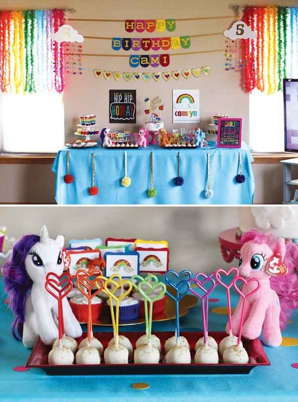 Rainbow Dash My Little Pony Birthday Party // Hostess with ...