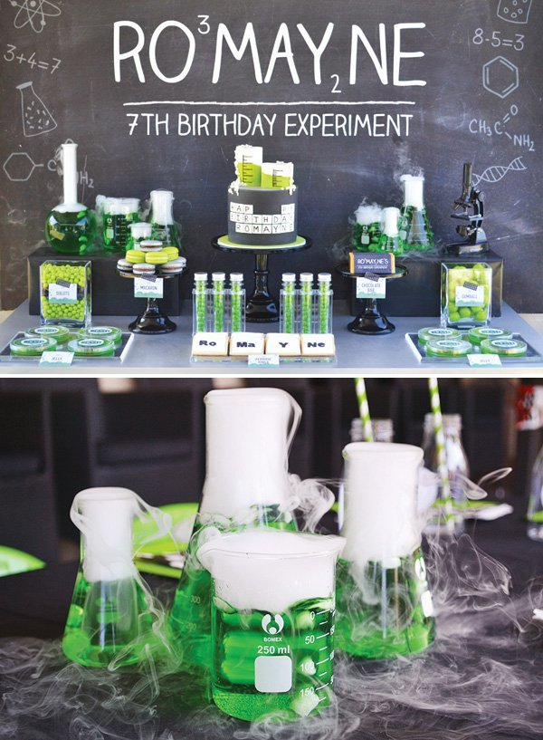 Cool Science Experiment Birthday Party // Hostess with the Mostess®