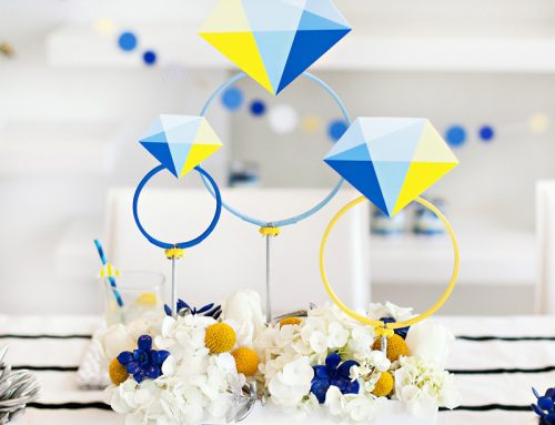 "A Bold & Modern ""Something Blue"" Bridal Shower"