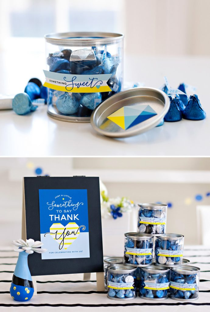 Something Blue Bridal Shower Favors