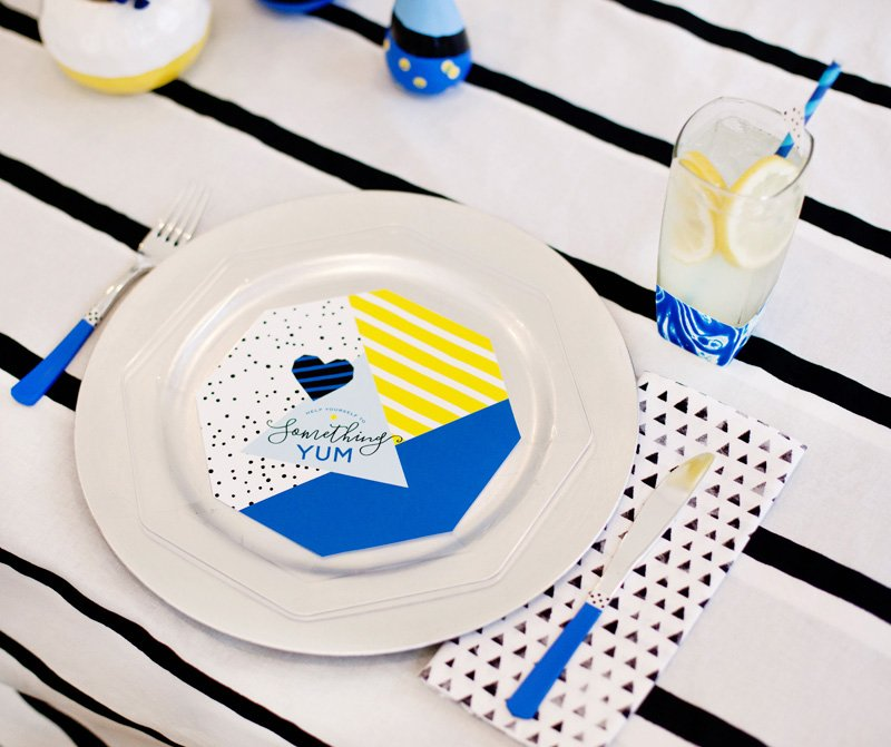 Something Blue Place Setting - Free Printables