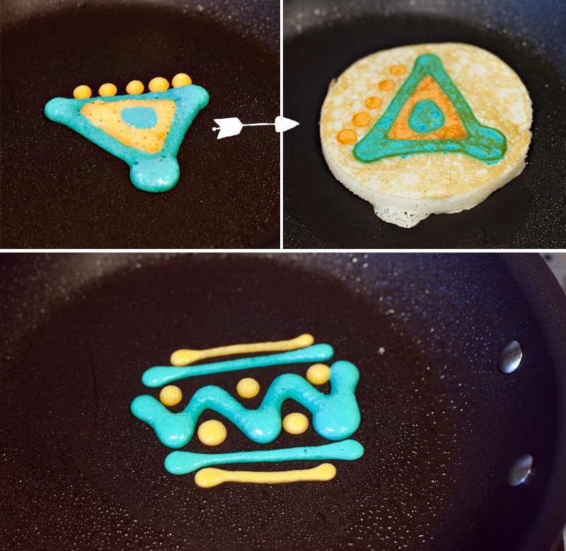 Tribal Pancake Designs