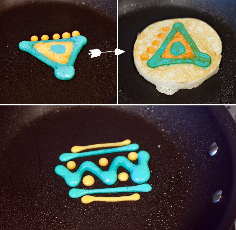Tribal Pancake Designs