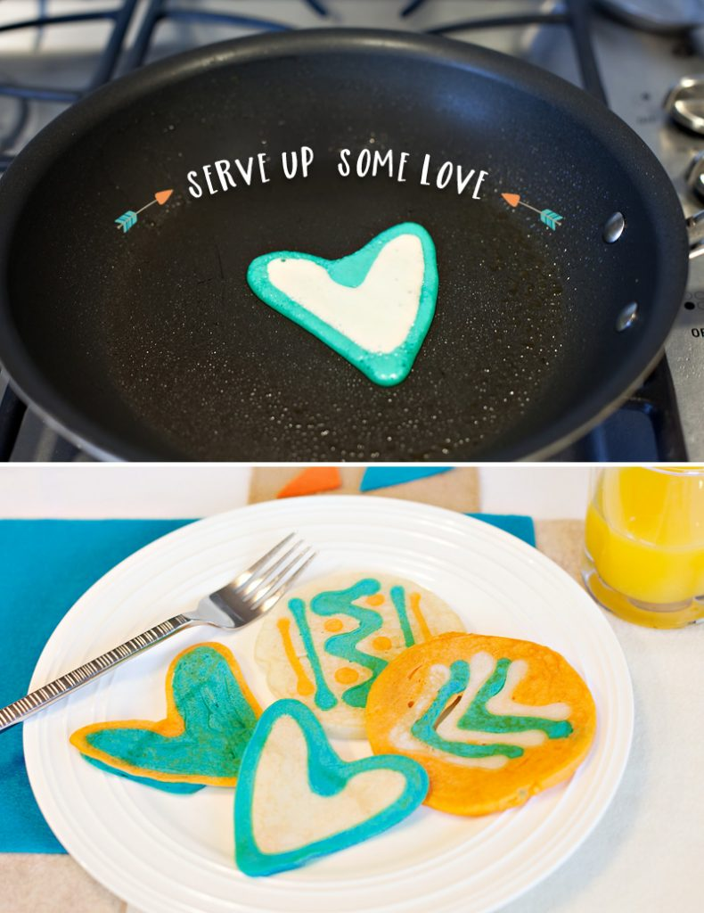 Heart Shaped and Tribal Pancakes