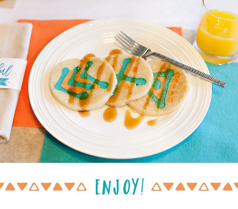 Tribal Inspired Pancakes