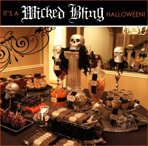 Real parties wicked bling halloween part 1 cocktail for Halloween dinner party food for adults
