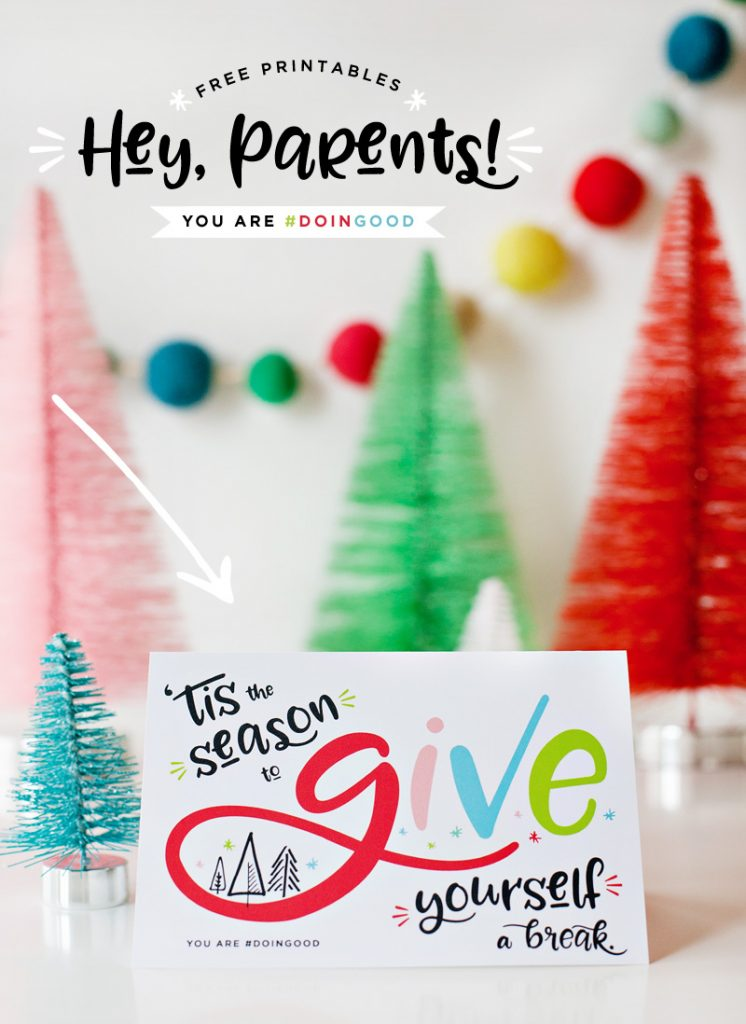 Free Printable Holiday Cards for Parents