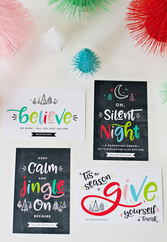 modern printable holiday cards