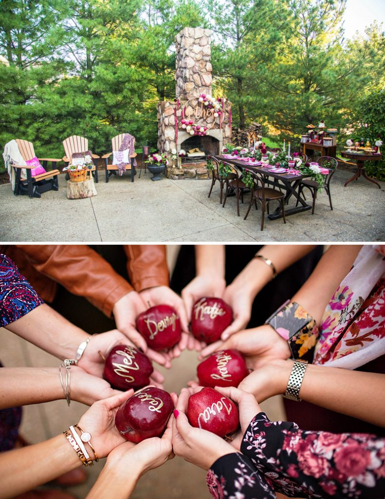 Personalized Apples and Glam Thanksgiving Party
