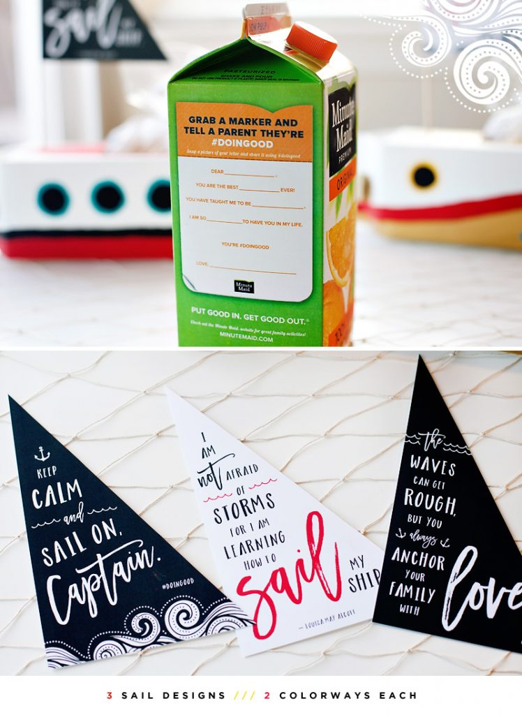 Minute Maid #DoinGood Carton + Printable Sails