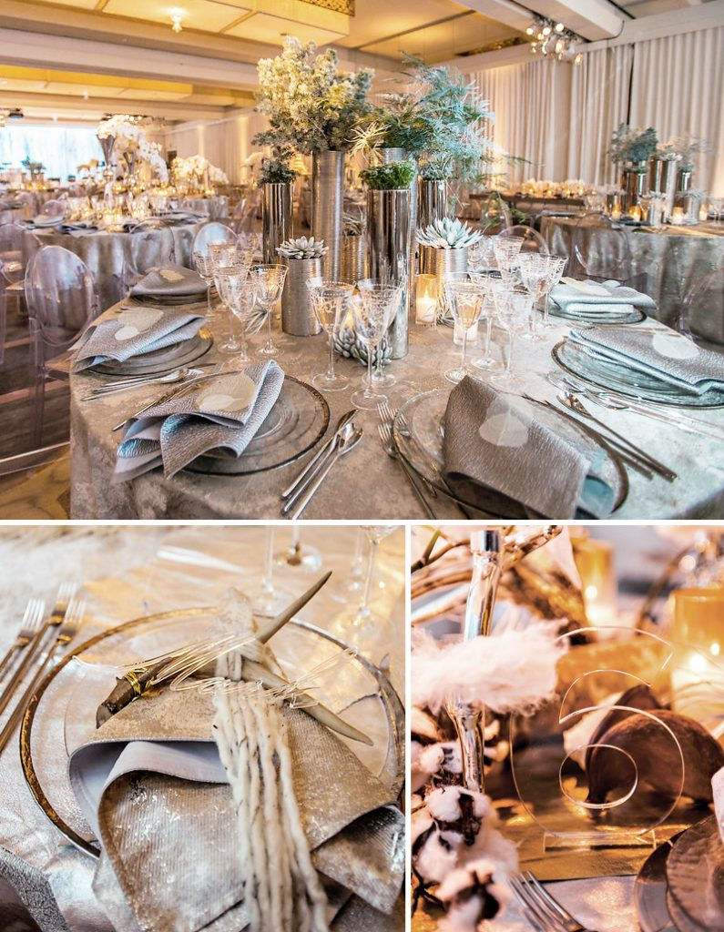 Winter Wonderland Holiday Wedding with Mixed Metals