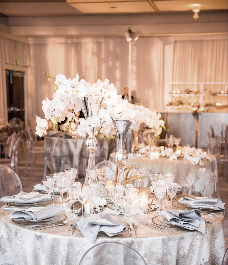 Silver and White Tablescape - Wedding or Holiday