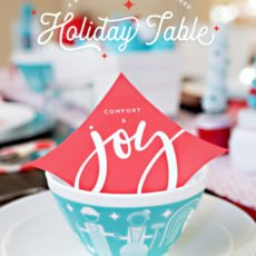 Retro Modern Holiday Table + Vintage Charm Bowls