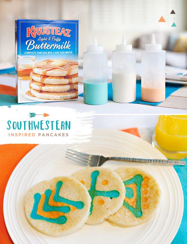Southwestern Inspired Breakfast Pancakes