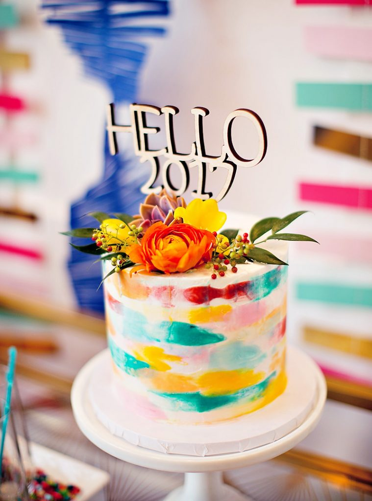 A Colorful New Year's Dream Board Crafting Party