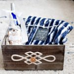 Holiday Gift Basket Idea with Plush Blanket