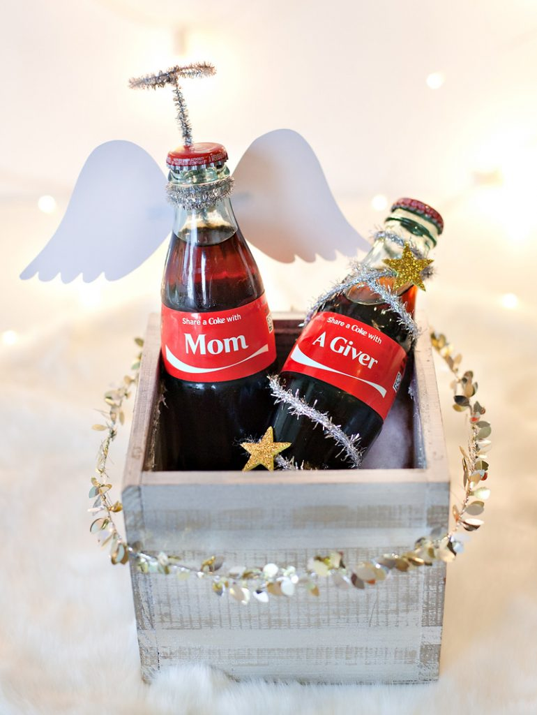 Holiday Gift Idea - Personalized Coke Bottles - Angel Theme