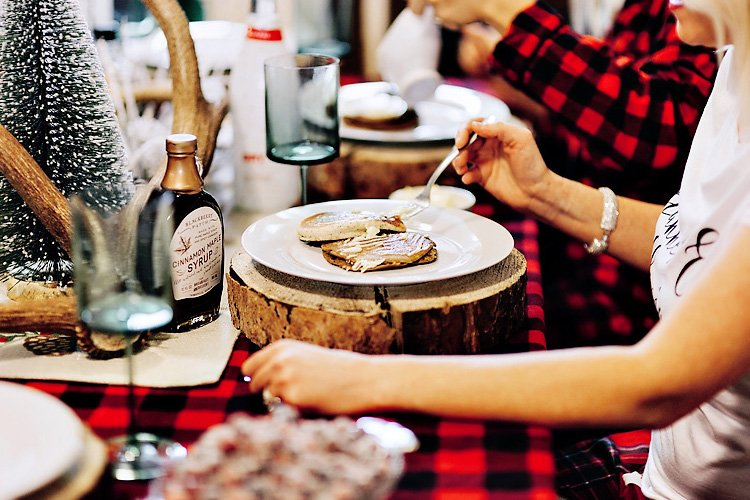 A Rustic Flannels & Flapjacks Holiday Party