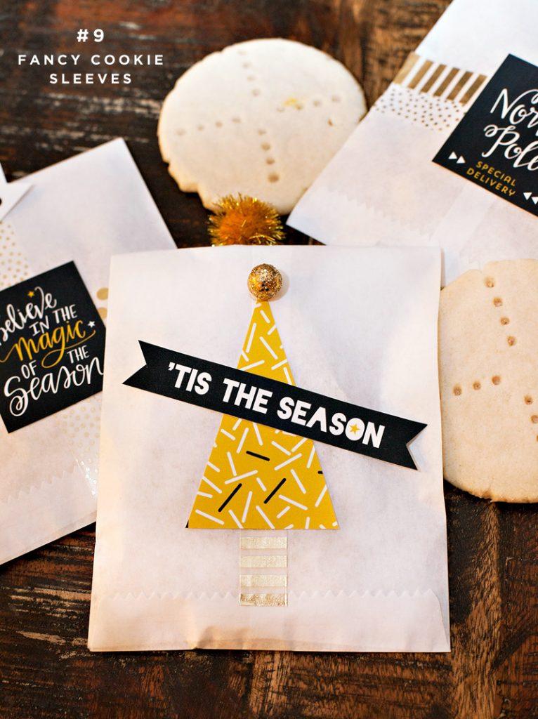 diy holiday cookie sleeves