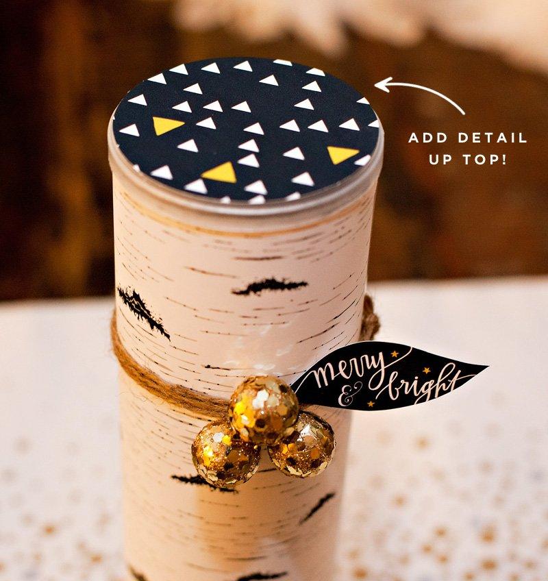 holiday cookie birch sleeve