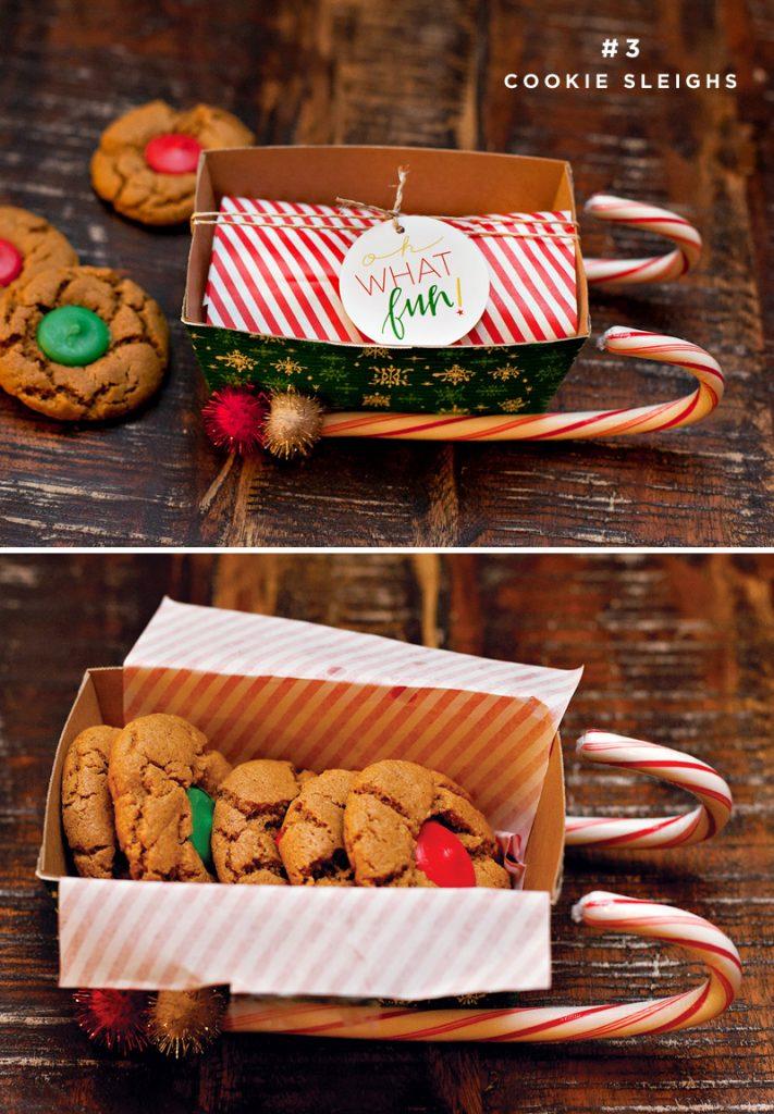 DIY cookie packaging - cookie sleighs