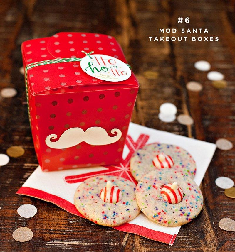 mod santa cookie packaging