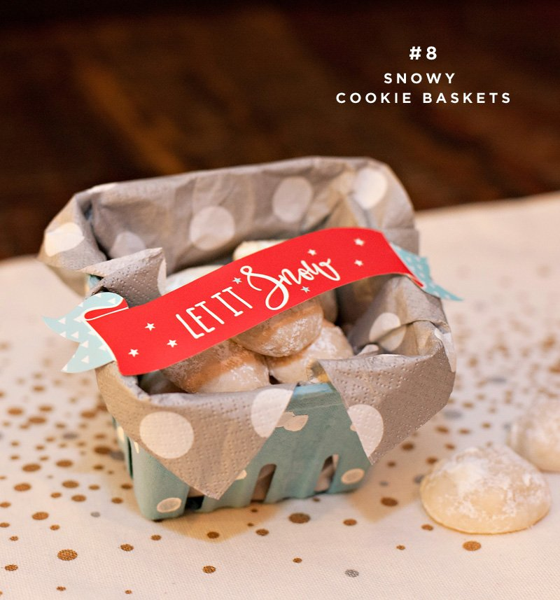 holiday snowball cookie gifts