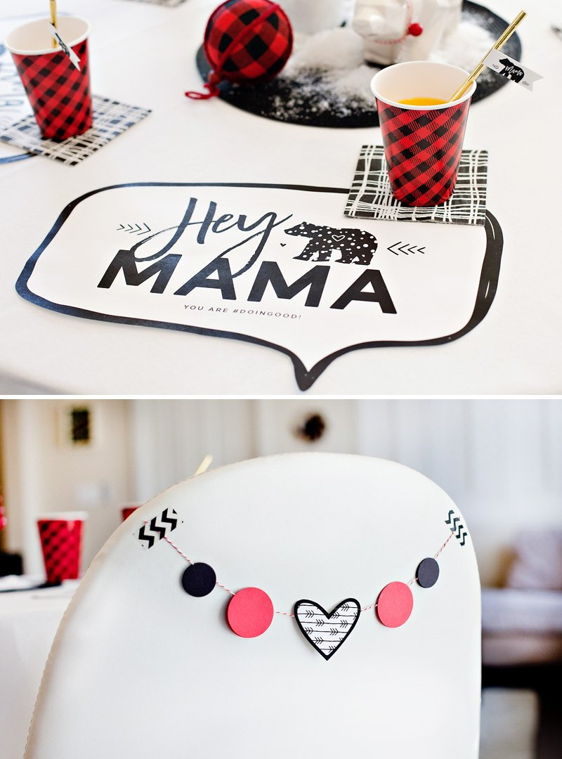 free printable Mama Bear placemats