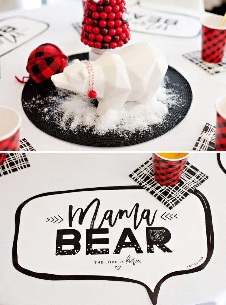 Polar Bear Inspired Mama Bear Holiday Brunch