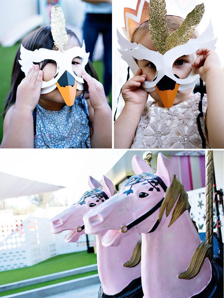 swan masquerade mask