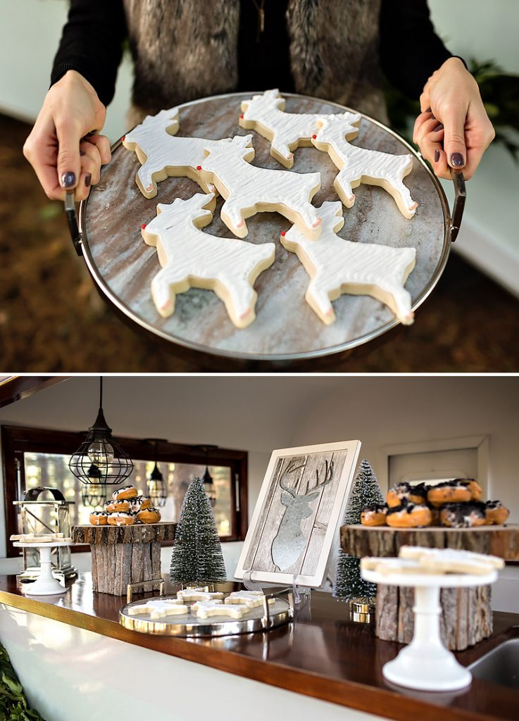 White Reindeer Cookies and Rustic Holiday Treats