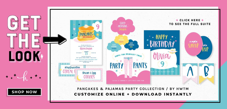 Pancakes & Pajamas Printables