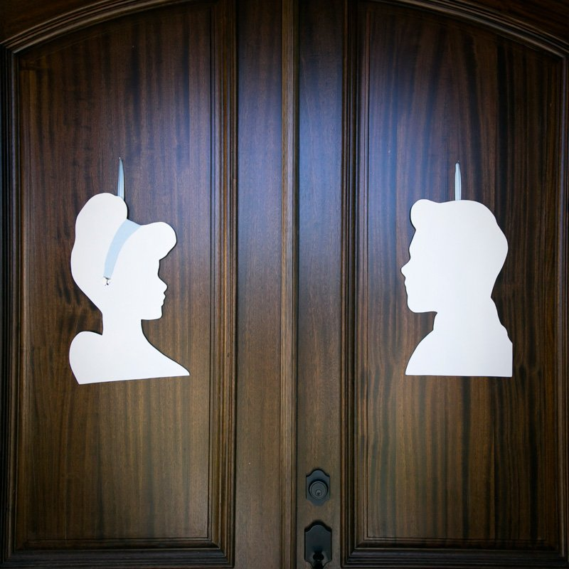 Cinderella and Prince Charming Silhouettes