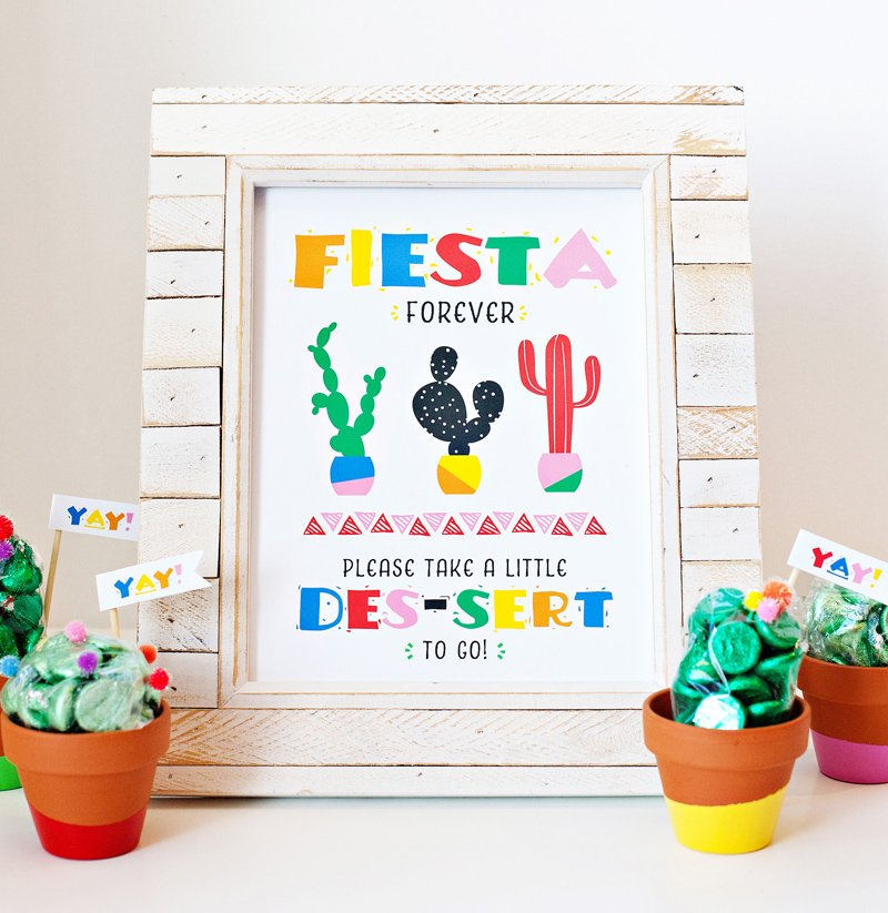 Free Printable Fiesta Party Sign