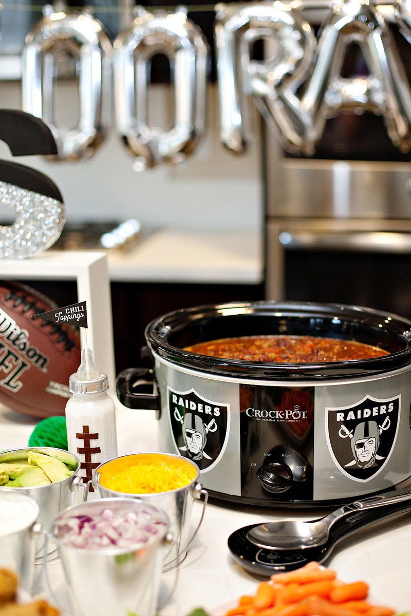 football party chili station