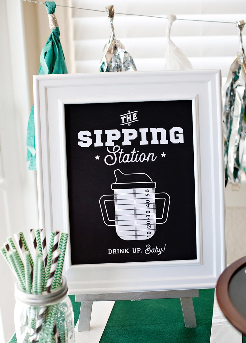 footballl baby shower printables