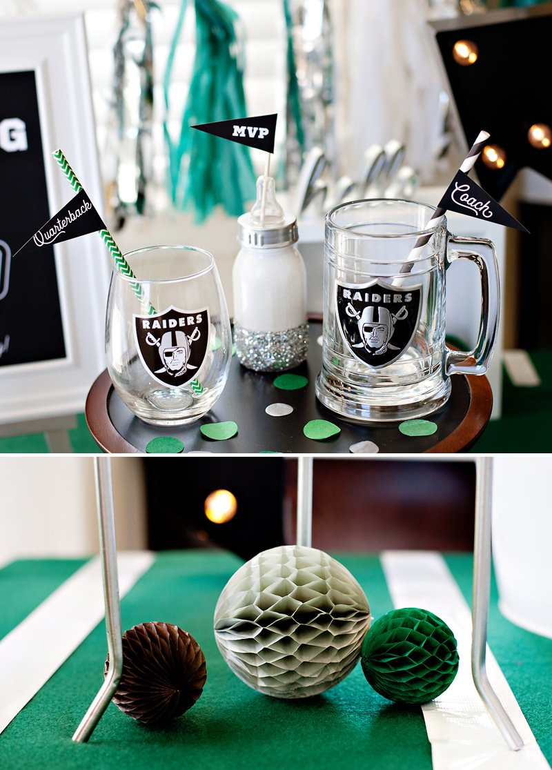 football baby shower centerpiece idea