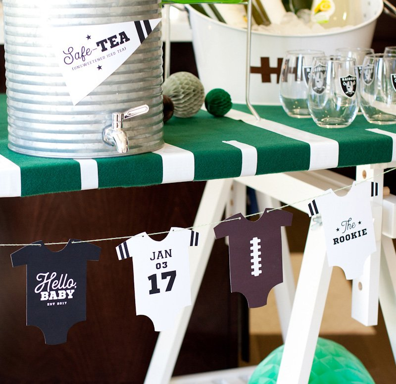 Good Printable Football Baby Shower Banner